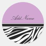 Zebra Stripes Monogram Sticker Labels