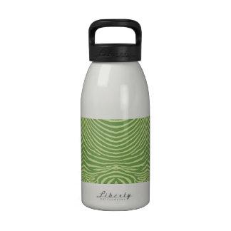 ZEBRA STRIPES: MOSS GREEN and CHARTREUSE MossGreen Drinking Bottle