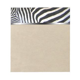 Zebra Stripes Note Pad