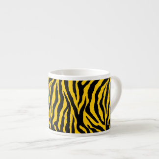 Zebra Stripes on Bright Yellow Expresso Coffee Cup