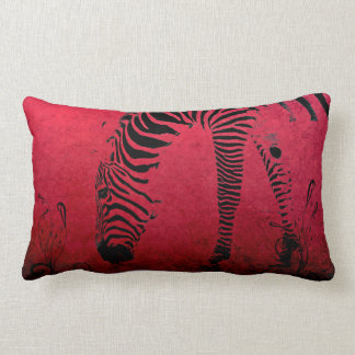Zebra Stripes on Red Pillows