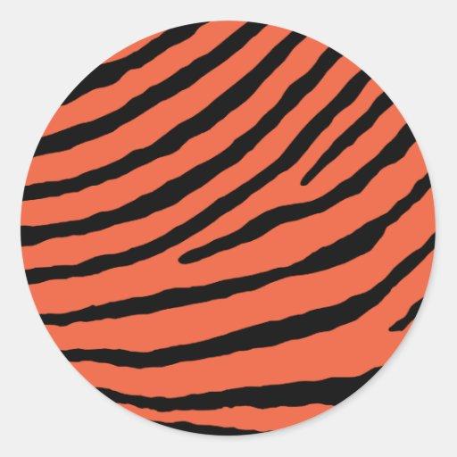 ZEBRA STRIPES: ORANGE and BLACK Sticker