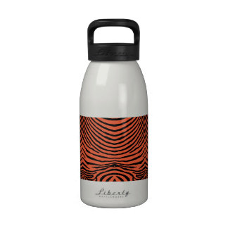 ZEBRA STRIPES: ORANGE and BLACK ZEBRA MUG Reusable Water Bottles