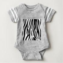 zebra stripes pattern baby bodysuit