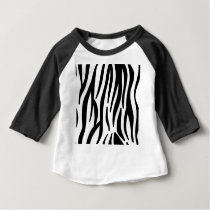 zebra stripes pattern baby T-Shirt