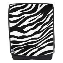 Zebra stripes pattern black & white   your ideas backpack