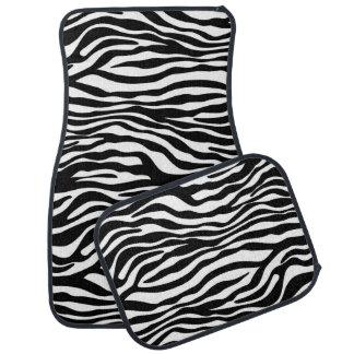 Zebra stripes pattern black & white + your ideas car floor mat