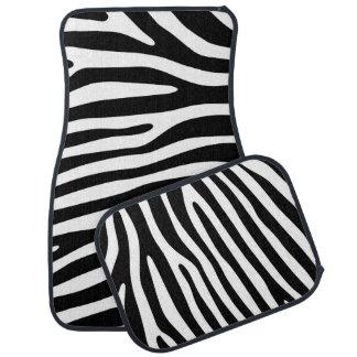 Zebra stripes pattern black & white + your ideas car mat
