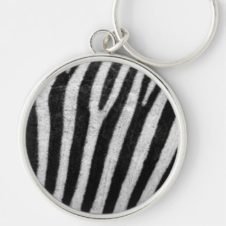 Zebra Stripes Pattern Keychain