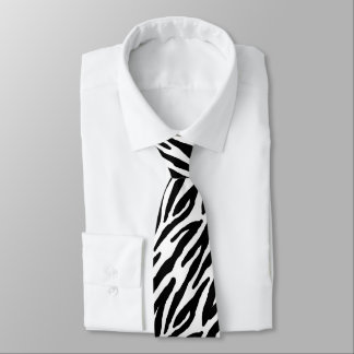 Zebra Stripes Pattern Neck Tie