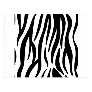 zebra stripes pattern postcard