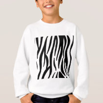 zebra stripes pattern sweatshirt