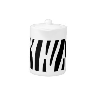 zebra stripes pattern teapot