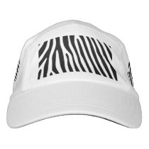 Zebra stripes pattern   your background & text hat