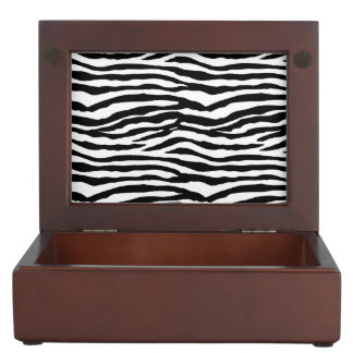 Zebra Stripes Keepsake Boxes