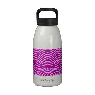 ZEBRA STRIPES: PLUM and FUCHSIA MUG Drinking Bottles