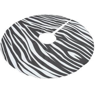 Zebra Stripes Print Brushed Polyester Tree Skirt