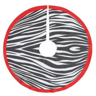 Zebra Stripes Print CHOOSE BORDER COLOR Brushed Polyester Tree Skirt