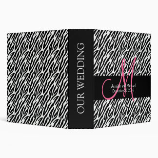 Zebra Stripes Print Wedding Planner 2 in. Binders