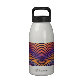 ZEBRA STRIPES: PURPLE SUNSET PURPsunsetZebraMUG Water Bottles
