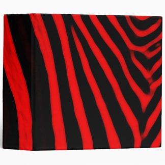 Zebra Stripes- Red Binder