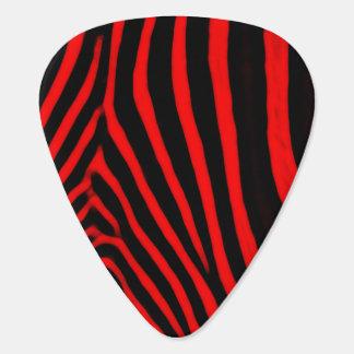 Zebra Stripes Red Guitar Pick