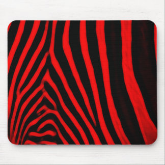 Zebra Stripes- Red Mouse Pads