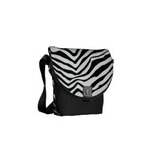 Zebra Stripes Rickshaw Messenger Bag