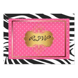 Zebra stripes RSVP (chubby biz cards) profilecard