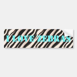 Zebra stripes seamless texture + your ideas car bumper sticker
