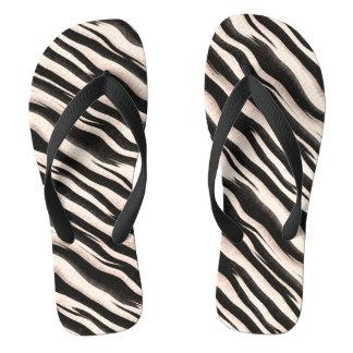Zebra stripes seamless texture + your ideas flip flops