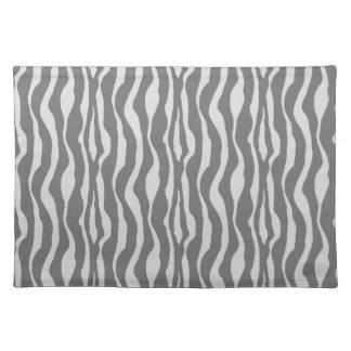 Zebra stripes - Shades of Grey Cloth Place Mat