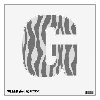 Zebra stripes - Shades of Grey Wall Sticker