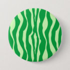Zebra stripes - Shades of Lime Green Pinback Button