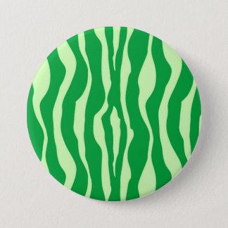 Zebra stripes - Shades of Lime Green Pinback Button