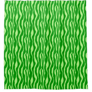 zebra stripes shades of lime green shower curtain