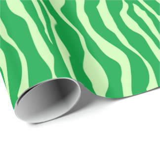 Zebra stripes - Shades of Lime Green Wrapping Paper