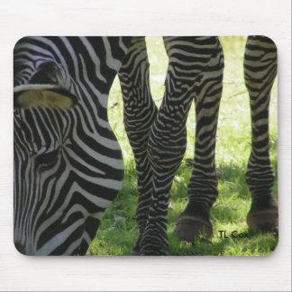 Zebra Stripes, TL Cox Mouse Pad