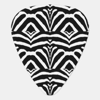 ZEBRA STRIPES TOO! (a Black & White design) ~ Guitar Pick