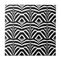 ZEBRA STRIPES TOO! (a Black & White design) ~ Tile