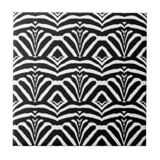 ZEBRA STRIPES TOO! (a Black & White design) ~ Tile