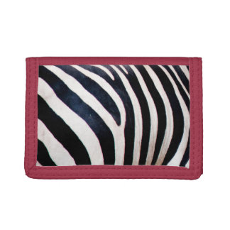 Zebra stripes trifold wallet