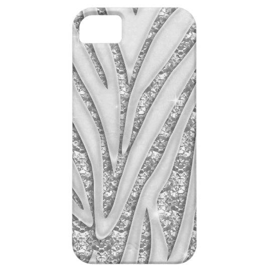 Zebra Stripes White Diamond iPhone 5 Case