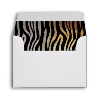 Zebra Stripes With Earth Tones Birthday Cards Envelope