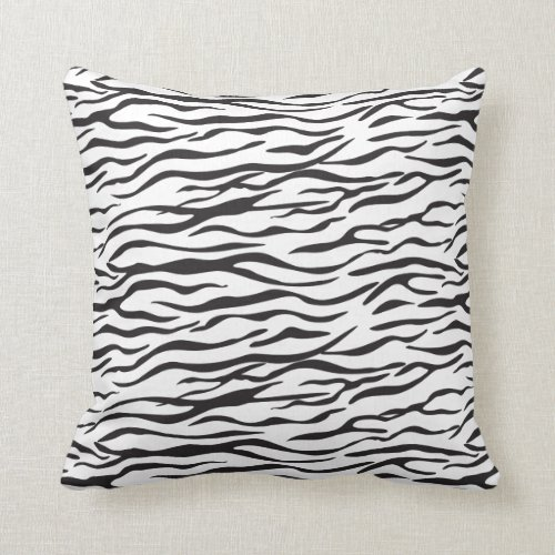 Zebra stripes / zebra skin print design throw pillow