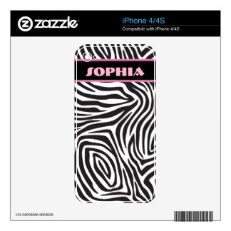 Zebra Stro[es Decal For The iPhone 4S