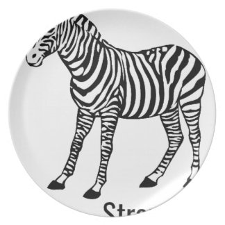 Zebra Strong Dinner Plate