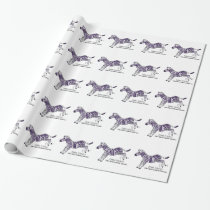 Zebra Strong Ehlers-Danlos Awareness Wrapping Paper