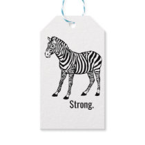 Zebra Strong Gift Tags