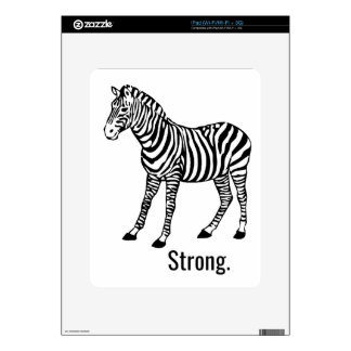 Zebra Strong iPad Decal